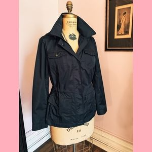 Talbots Navy All Weather Coat with Hood